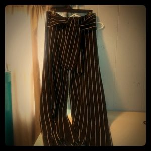 Striped Palazzo pants nwt